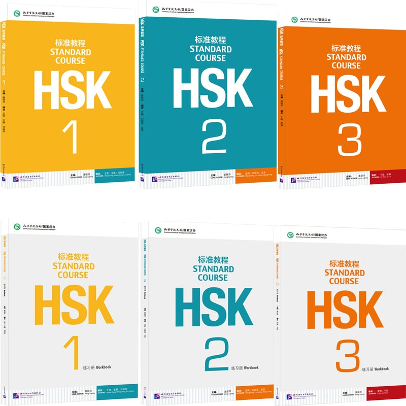 6/Set Books HSK 1-3 English Exercise Chinese Standard Course Students Workbook And Textbook Libros Art For Kids Adult Copybook hsk standard course learning chinese students textbook and workbook standard course hsk package 2 books