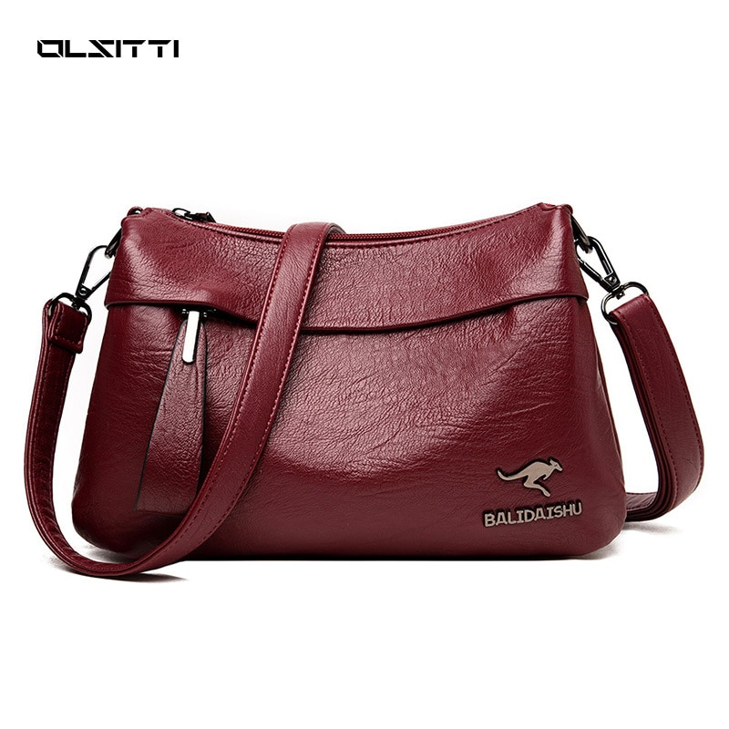 textured pu leather women trendy top handle bags all match elegant shopping shoulder bag female luxury designer crossbody bags OLSITTI Fashion Trendy Solid Color PU Leather European American Shoulder Bags for Women 2021 Crossbody Bag All-match Handbag