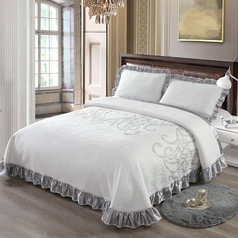 جديد الفاخرة انتشار السرير المفرش الملك الملكة حجم السرير غطاء مجموعة فراش توبر بطانية المخدة couvre مضاءة colcha دي كاما 40