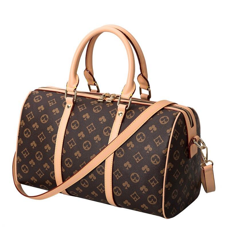 جديد الكلاسيكية طباعة الرجال حقيبة سفر الأمتعة حقيبة يد سعة كبيرة الأعمال لمسافات قصيرة الأعمال حقيبة السفر حقيبة اللياقة
