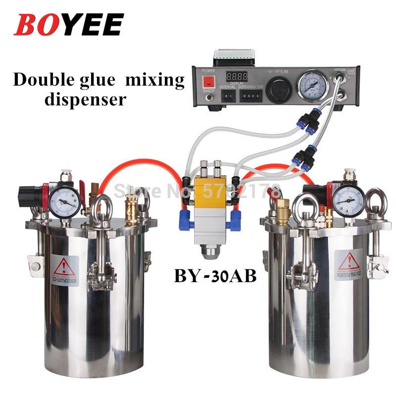 BY-30AB مزدوجة اسطوانة مزدوجة السائل شفط نوع قابل للتعديل AB مزدوجة السائل الاستغناء التلقائي موزع الغراء السائل مجموعة