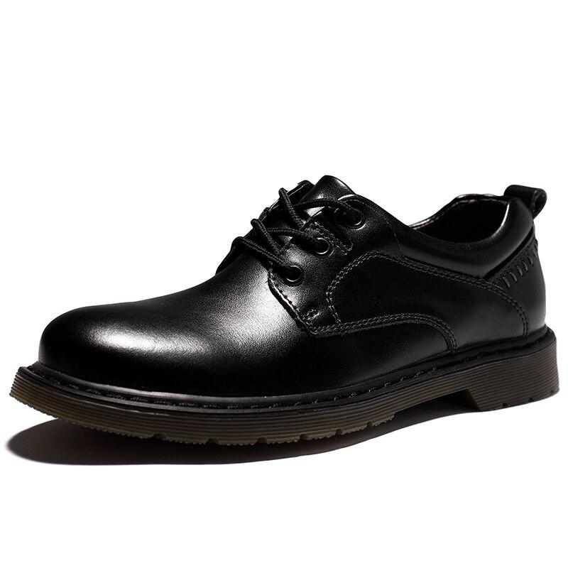 الخريف الشتاء رجالي مصمم جلد طبيعي مريحة اليدوية أحذية عمل رسمية ماركة فاخرة أسود/براون حجم كبير 38-47