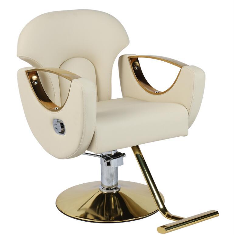 Новая популярная модель Роскошная гидравлическая салонного стиля стул золото парикмахерское кресло гвоздь мебель для салонов красоты