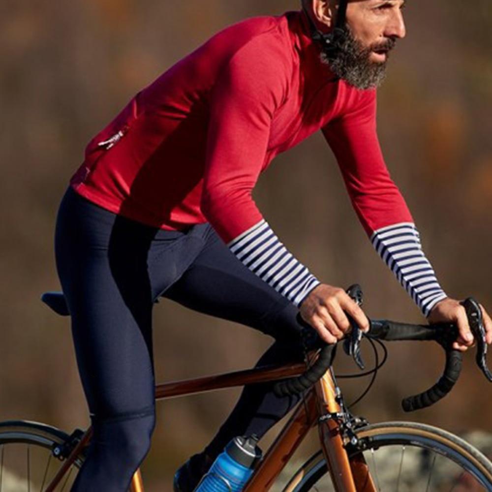 Ropa de bicicleta de manga larga, traje de chaqueta de Ciclismo de...