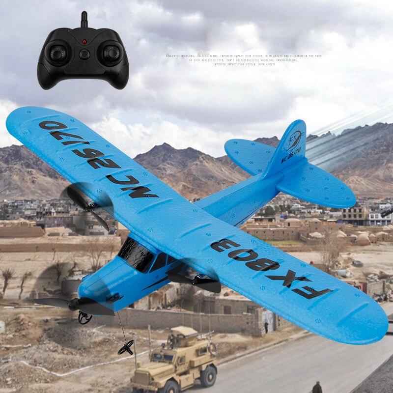 Niños Fly 150 metros planeador avión Control remoto RC avión eléctrico aumentar la batería puede volar más tiempo americano Lovest principiante