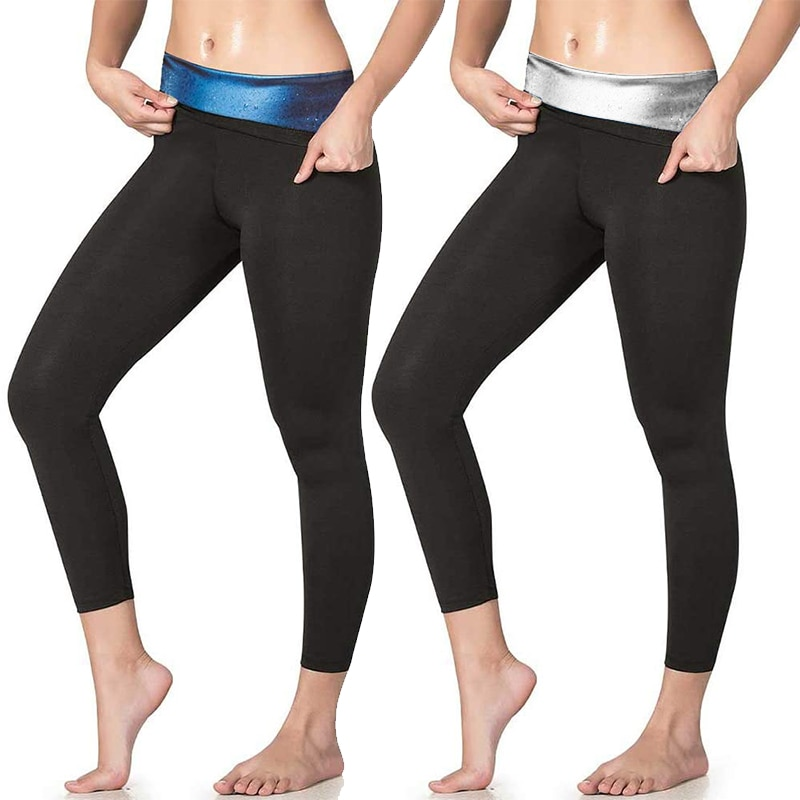 Women Thermo Sweat Sauna Pants High Waist Leggings Hot Body Shaper Capri Shapewear Fitness Yoga Pant
