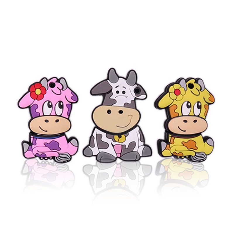 USB2.0 pen drive 128gb memory stick pendrive 64gb cartoon big Bull cow usb flash 4gb 8gb 16gb 32gb cute animal  cle