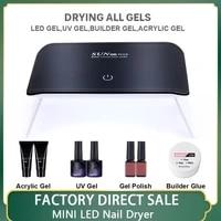 nail lamp 24w mini nail art dryer uv led lamp portable household curing varnish gel lamp usb cable manicure polishing nail tools