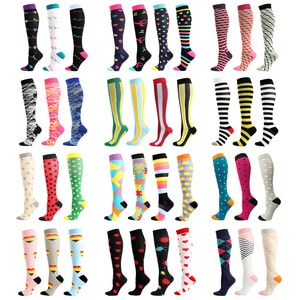 Outdoor Sports Men Women Compression Stockings Compression socks For Anti Fatigue Pain Relief Knee Prevent Varicose Veins Socks