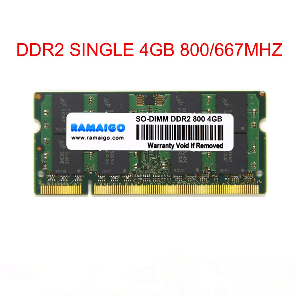 SODIMM 4GB DDR2 800Mhz RAM DDR2 667mhz 8GB 2x4GB notebook memory for GL40 GM45 GS45 PM45 PM65 PM945 PM965 Laptop single DDR2 4GB
