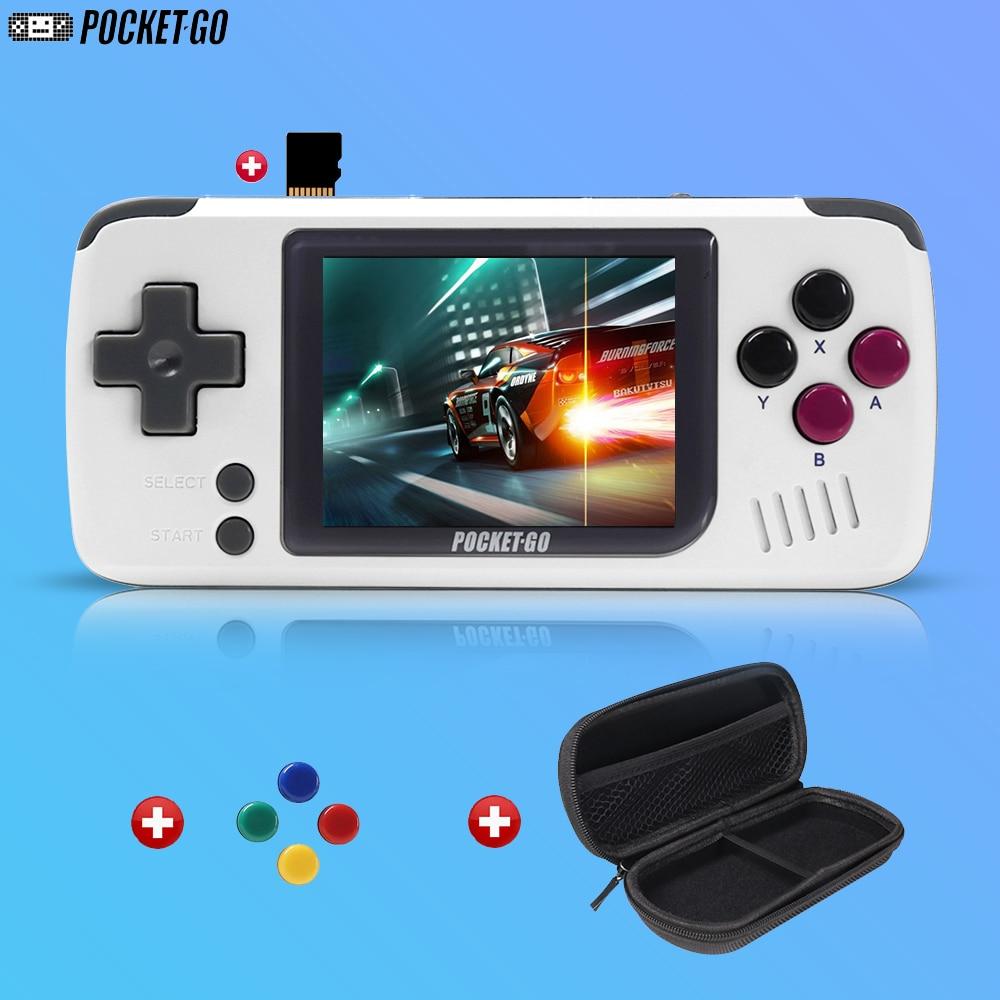 Игровая консоль PocketGo, ретро портативная игровая консоль, 2,4 дюймовый экран, портативные детские игровые плееры с картой памяти