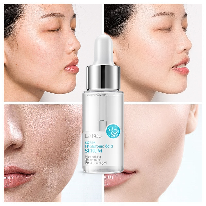 15ml Face Serum Hyaluronic Acid Moisturizing Facial Essence Liquid Shrink pores Whitening Brightening Tighten Face Skin Care new laikou hyaluronic acid face serum moisturizing shrink pores whitening brightening tighten facial essence liquidskin care 15ml