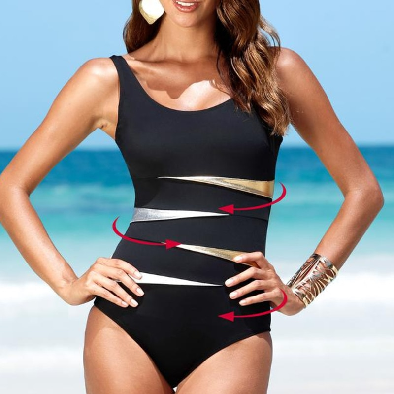 Sexy One Piece Female Large Size Swimsuit Closed Plus Size Swimwear Push Up Bathing Suit Beach Pool Bather Women's Swimming Suit