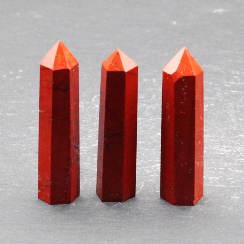 Pedra natural mineral cristal vermelho jasper casa decoração feitiçaria adoração meditação roda pulso cura coluna de cristal