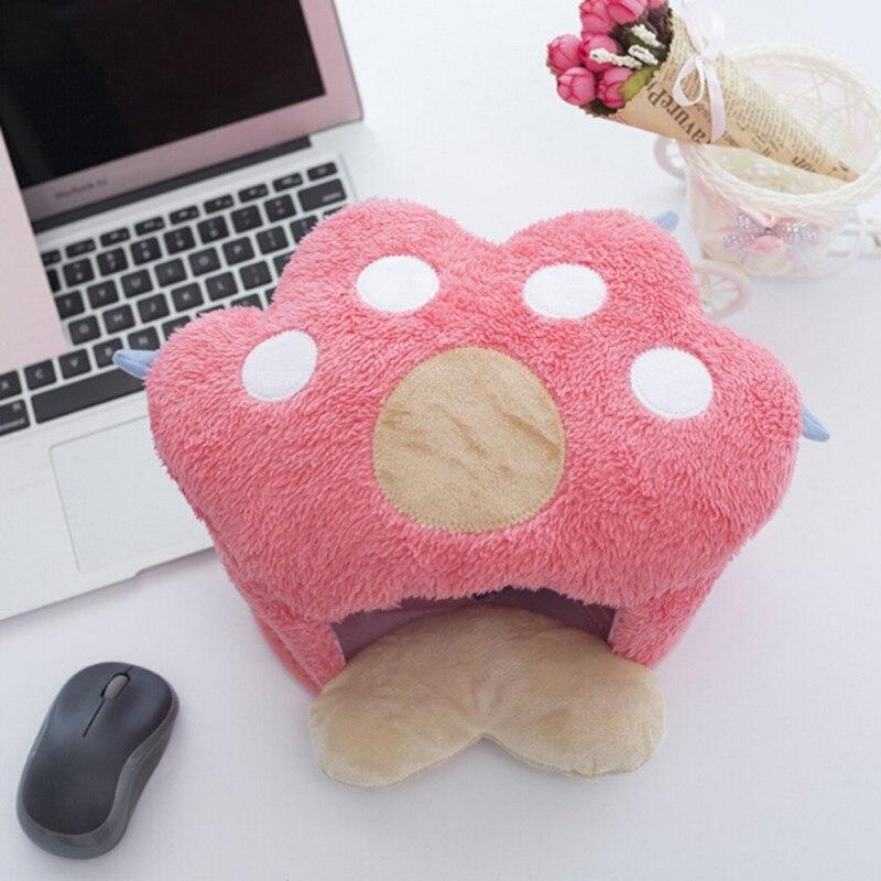 Almofada do Rato do Mais Quente da Mão de Usb com Descanso de Pulso Protetora do Estofamento dos Ratos Aquecidos para o Inverno Confortável Esteira