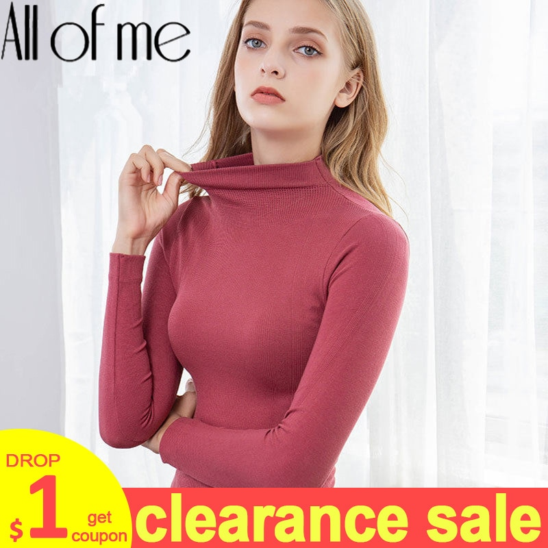 Warm Thermal Underwear Sexy Ladies Intimates Long Johns Women Shaped Sets Female Middle Collar Therm