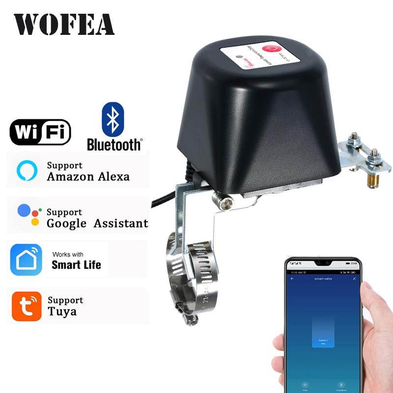 Wofea Tuya واي فاي الذكية صمام تحكم بلوتوث للمياه الغاز السيارات اغلاق قبالة متوافق مع اليكسا جوجل مساعد SmartLife
