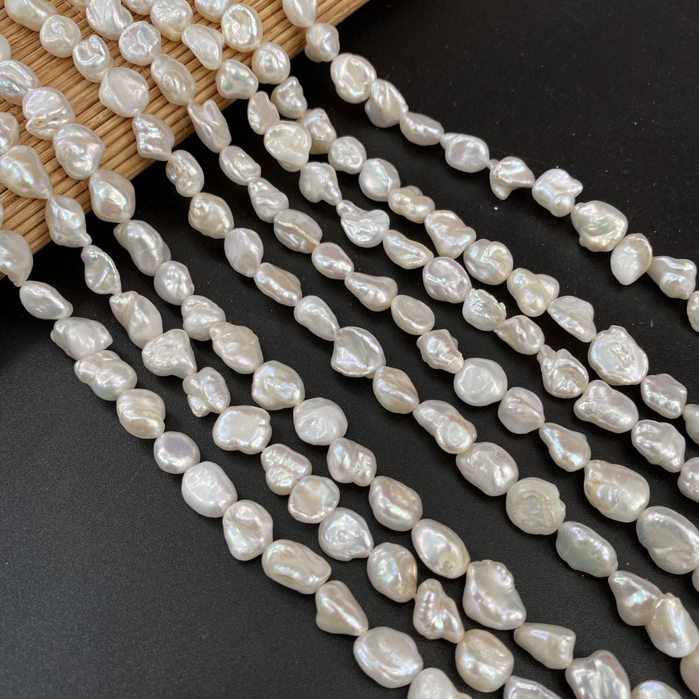 Good Quality Natural Baroque Pearls Irregular Button Shape Freshwater Pearl Beads for DIY Charm Necklace Bracelet Making Jewelry  - buy with discount
