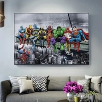marvel movies funny superhero anime posters and prints quadro canvas painting wall art pictures for living room home decoration