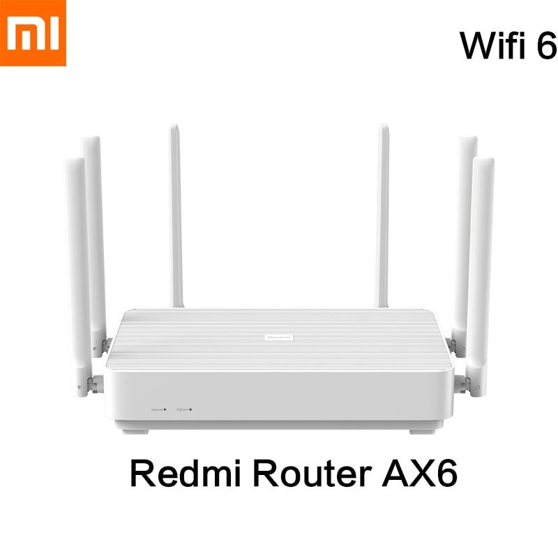 New Xiaomi Redmi AX6 Wireless Router Wifi 6 6-Core 512M Memory Mesh IoT 6 Signal Amplifier 2.4G 5GHz Antennas Repeater OFDMA