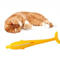 Cat Fish Shape Toothbrush Pet Cat Toys Soft Silicone Cat Catnip Cleaning Teeth Dog Chew Toys Interactive Pet Supplies For Cat