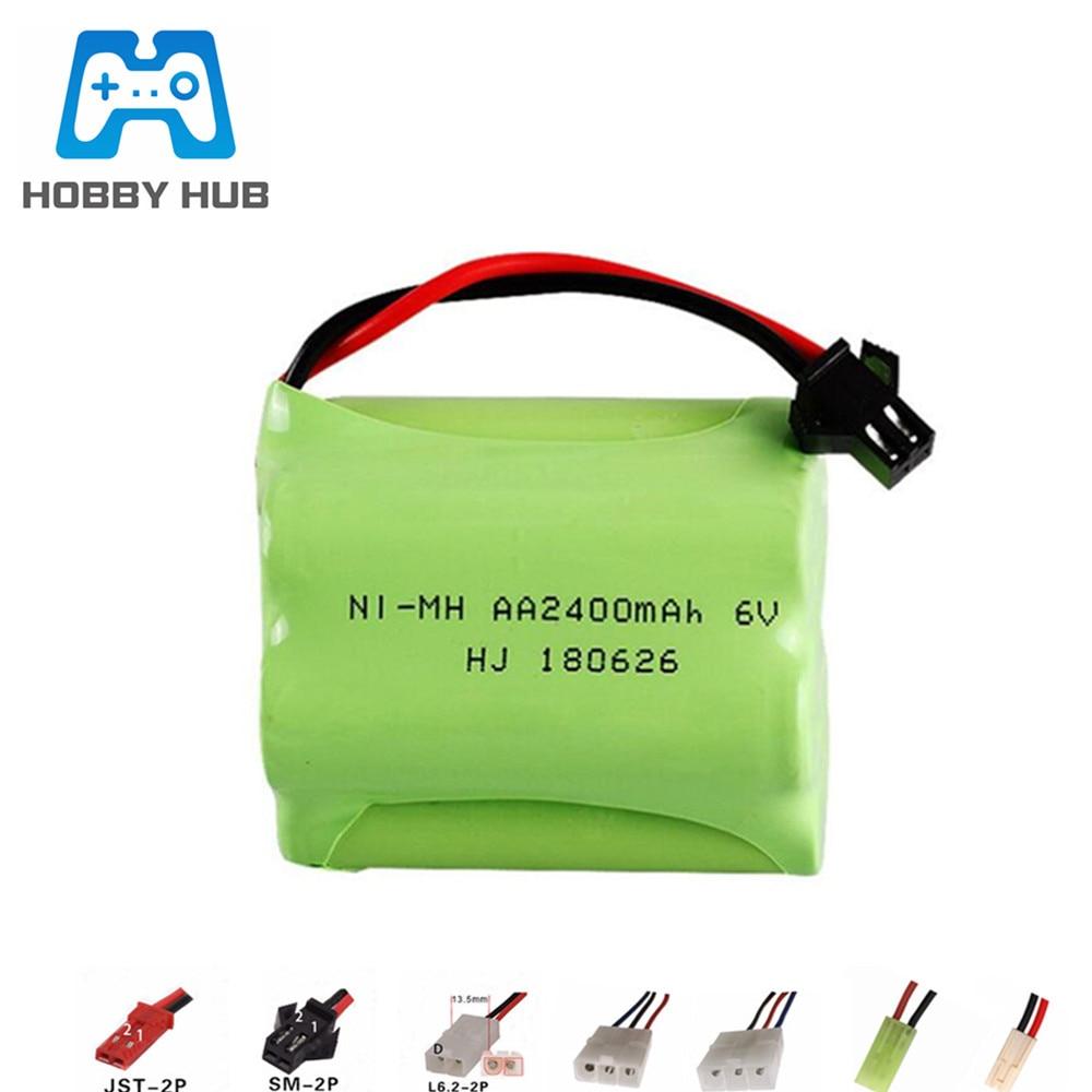 6V 2400mAh Ni-MH battery For RC Toys Car Boats Trucks Tank Guns lighting facilities NIMH AA 6v Recha