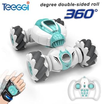 Teeggi S-012 RC Stunt Car 2.4G Remote Control Car Stunt Drift Gesture Induction 360 Degree Twisting Dancing Off-road Toy Gift