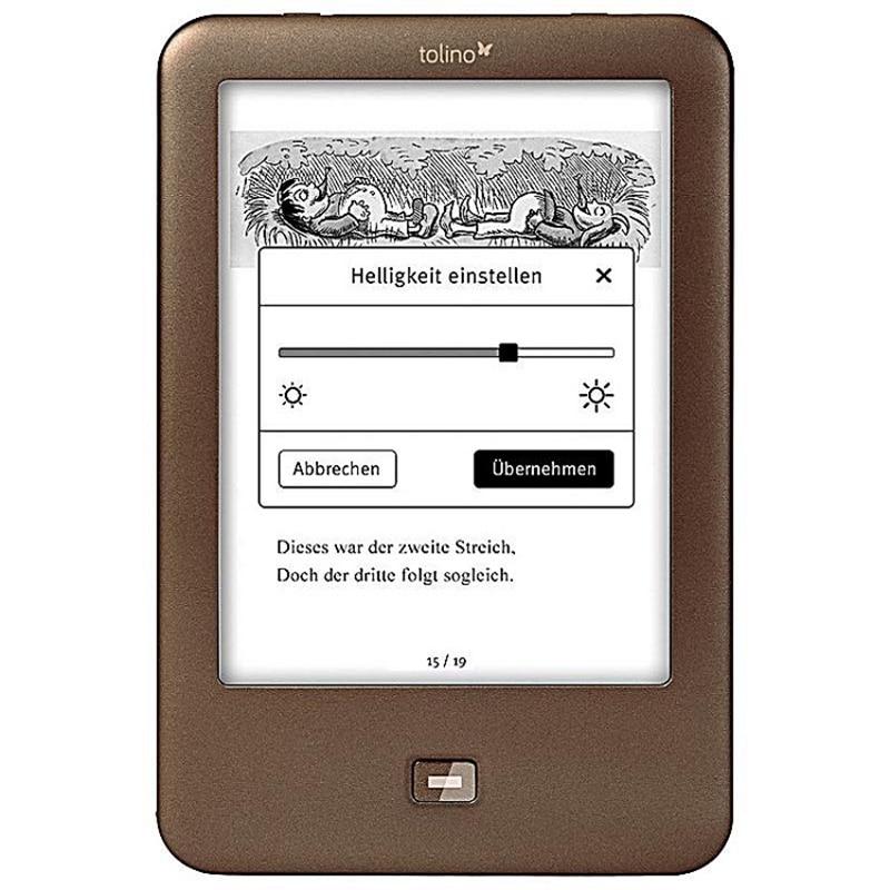 Lector de ebook de tinta e lector electrónico luz Libro 6 pulgadas e-ink e lector de libro 1024x758 Luz de 4GB e-Book reader Tolino Shine