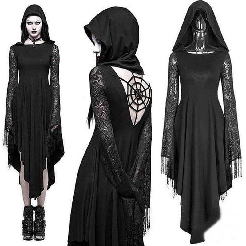 Disfraz de Halloween de novia fantasma, disfraz de vampiro, mujer, demonio zombi, encaje Sexy, disfraz ATERRADOR