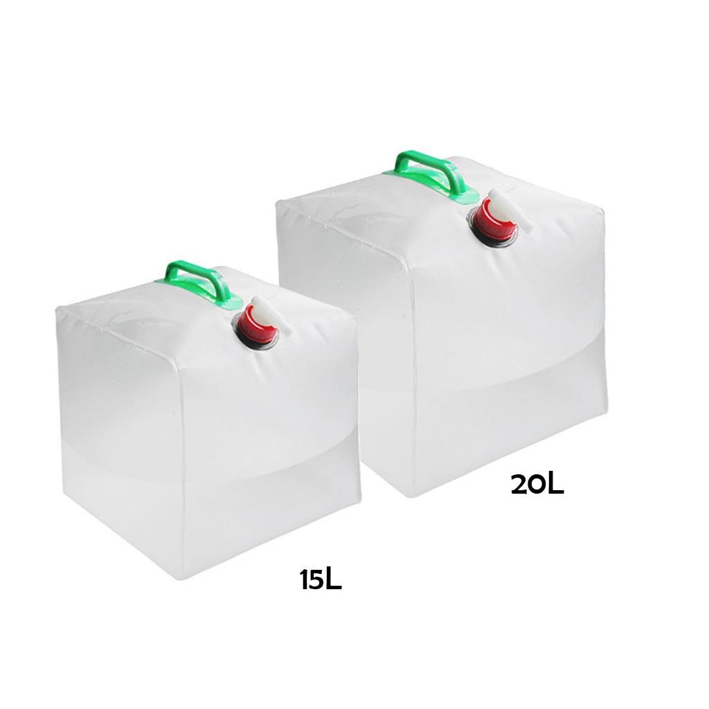 Bolsa para agua y bebidas plegable grande de Pvc de 20l, botella transportadora de agua plegable para Picnic de campo, ajusta el flujo de agua d4