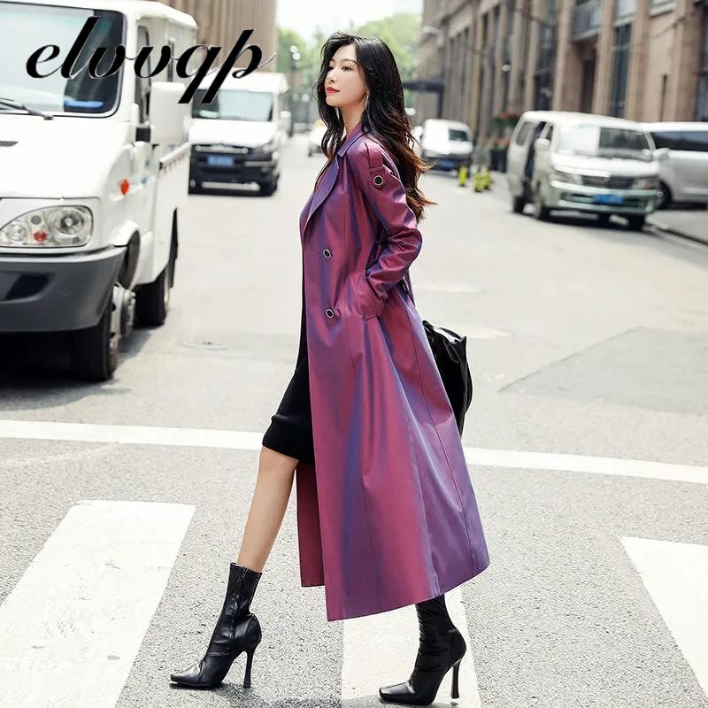 Autumn Female Trench Coat High Street Women Clothes Outerwear Women Elegant Office England Style Lon