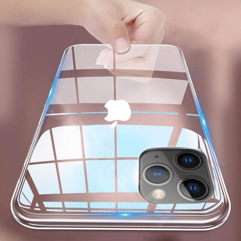 Funda transparente para iPhone 11 Pro Max XR Xs Max 7 8...