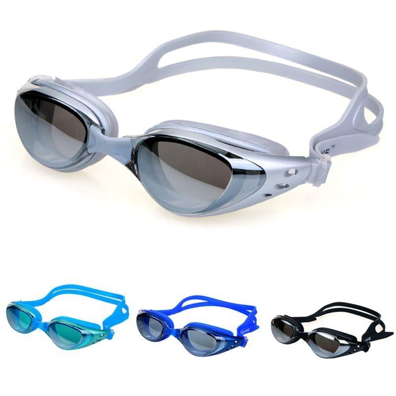 Anti-fog Mirrored Swim Goggles Silicone Seal Swimming Goggles Diving Glasses UV Protection Anti-shatter Waterproof Swim Eyewear