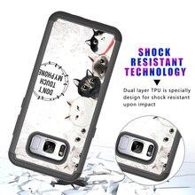 Funda para Samsung Galaxy, 2 en 1 resistente de goma híbrida de plástico duro suave TPU protector trasero pintado tela cubierta de diseño