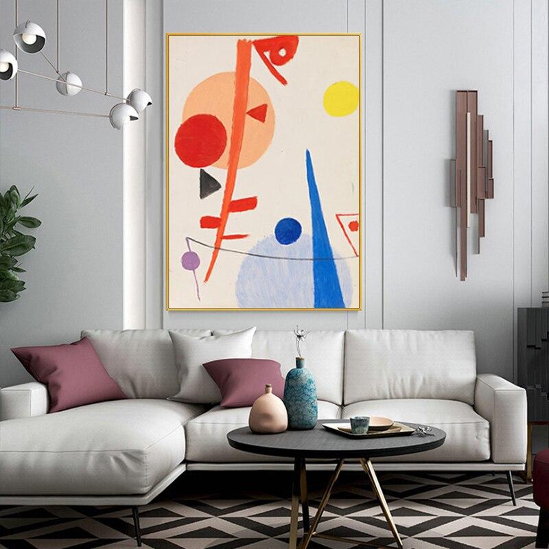 Современная Скандинавская Геометрическая картина, абстрактные постеры и принты, Картина на холсте, настенные художественные картины для д...