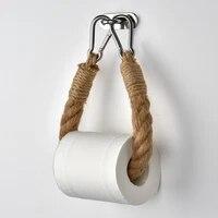 Rouleau de papier de cuisine retro  accessoires  corde de suspension pour serviettes  supports de decor de salle de bains en acier inoxydable
