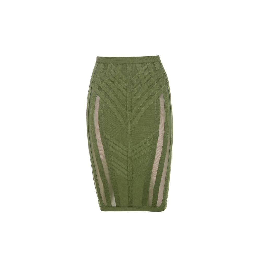 Faldas a la moda elásticas de cintura alta de malla Midi falda Saias Faldas Femmle 2020 recién llegadas ropa de mujer