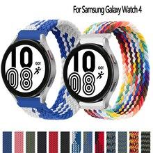 Correa trenzada para Samsung Galaxy watch 4, classic, 3, 46mm, 42mm, Active 2 gear s3 frontier, pulsera de 20mm y 22mm