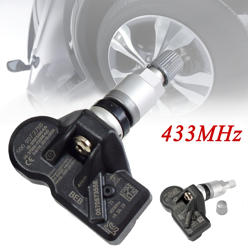 4pcs Car 5Q0907275B Tire  Pressure Monitoring Sensor TPMS Sensor For Skoda VW Audi Porsche Bentley 5Q0907275 433Mhz