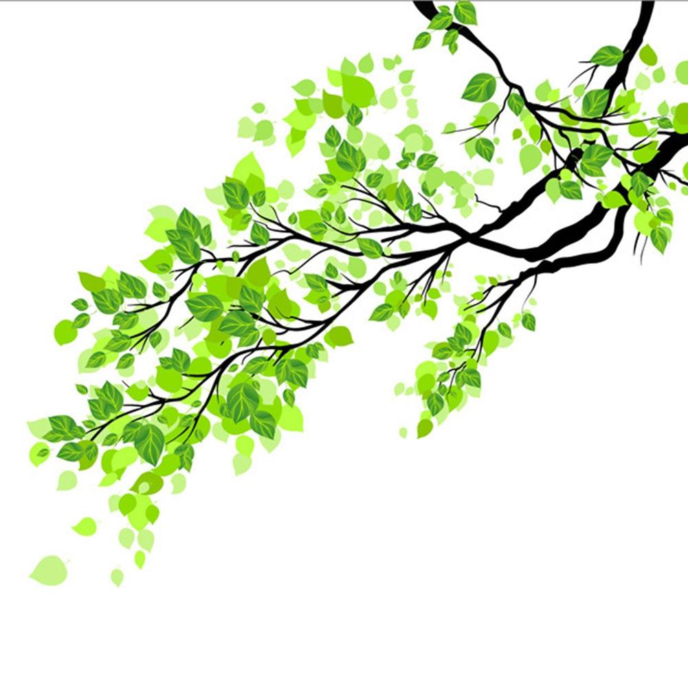 Home Decor Film Keramik Zweig PVC Green Leaf Wand DIY Frosted Tür Fenster Glas Aufkleber
