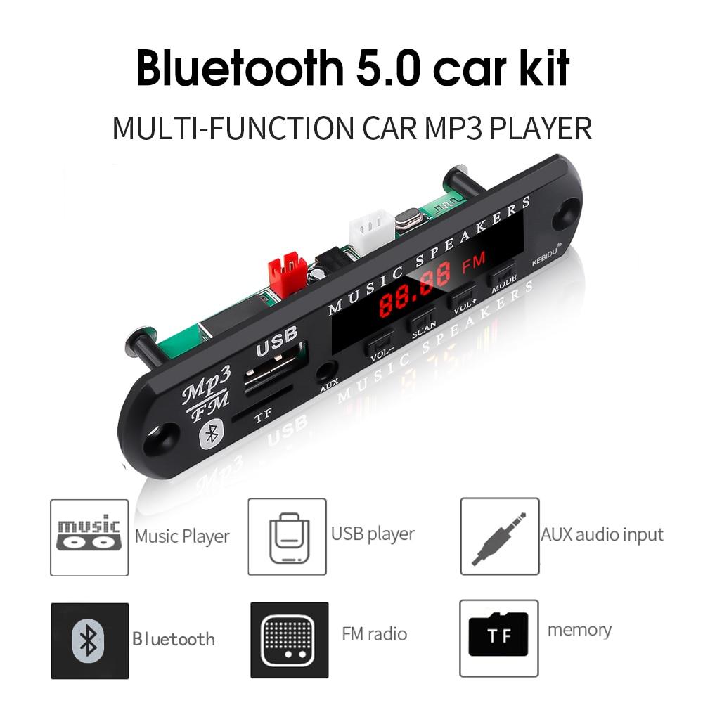 Kebidu inalámbrico Bluetooth 5,0 MP3 reproductor decodificador placa módulo soporte TF tarjeta/USB/FM Audio música altavoz