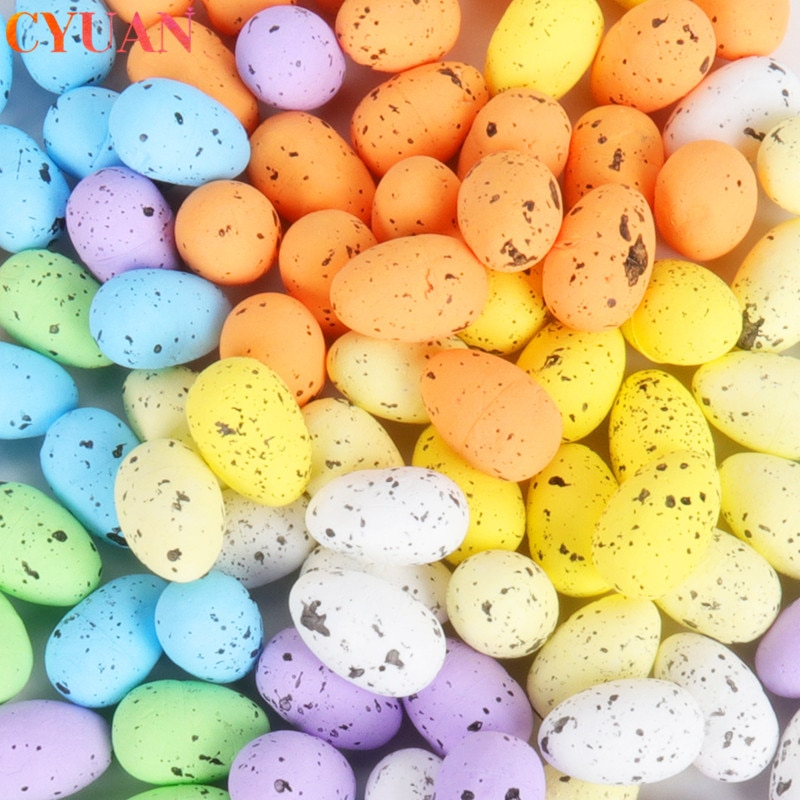 20шт 3,3 см Пасхальные яйца из пены счастливые пасхальные украшения окрашенные птицы голубиные яйца DIY ремесло дети подарок для домашнего декора пасхальные Вечерние