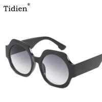 tidien designer oversized fashion sunglasses women round driver shades for high quality uv400 2019 black ladies clear 9027