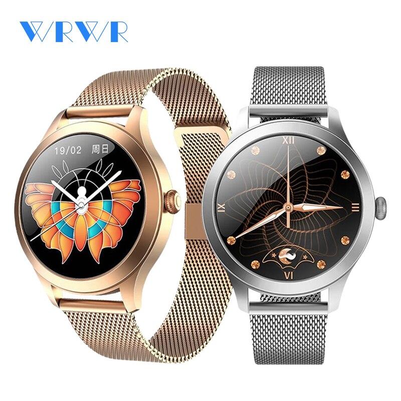 2021 WRWR Luxury Women's Smart Watch Stylish Waterproof Wristwatch Stainless Steel Casual Girls Smar