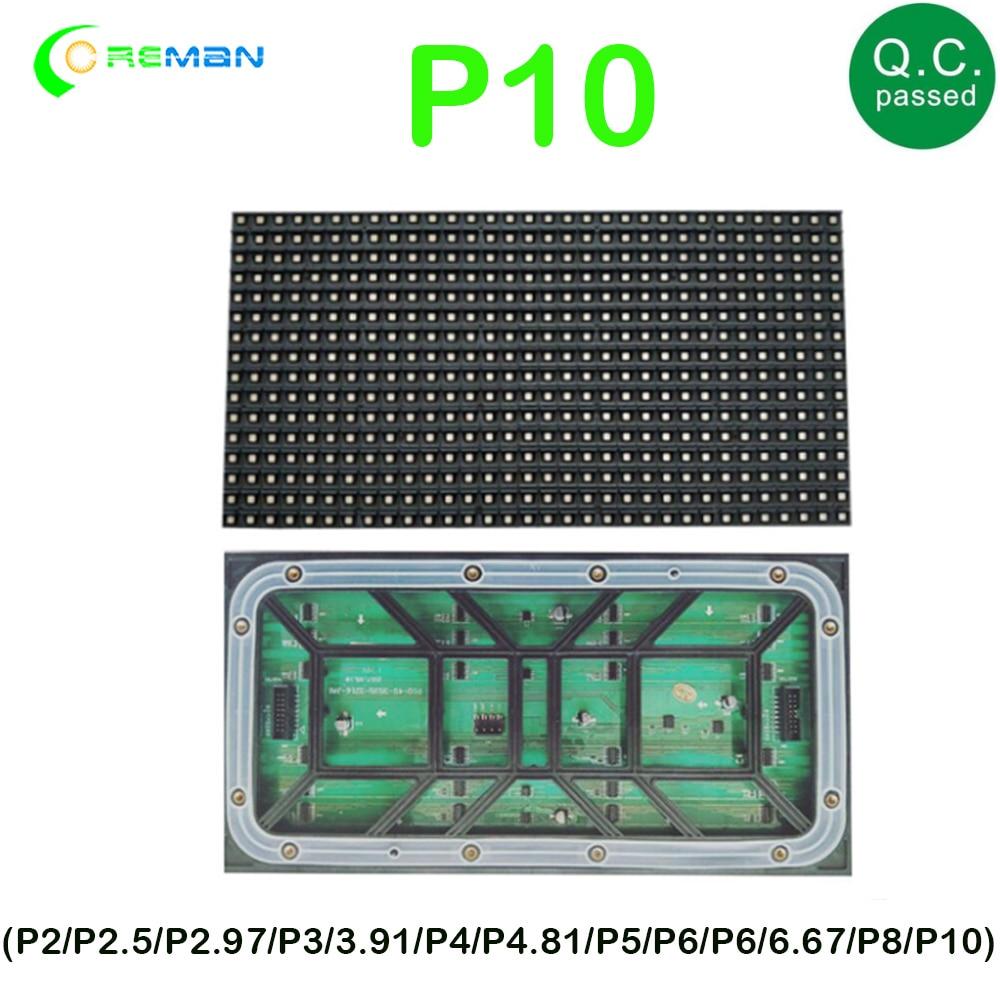 P6 P8 P10 módulo LED para exteriores 320x160mm SMD3535 3 en 1 320*160mm RGB LED Unidad de Panel de Video 32*16 píxeles IP65 impermeable