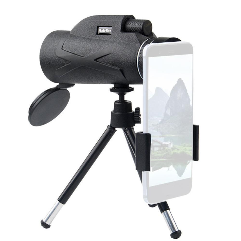 المحمولة 80x100 HD تلسكوب عالية الطاقة مجهر المهنية العسكرية ناظور أحادي العين للرؤية الليلية التكبير البصرية Spyglass نطاق الصيد