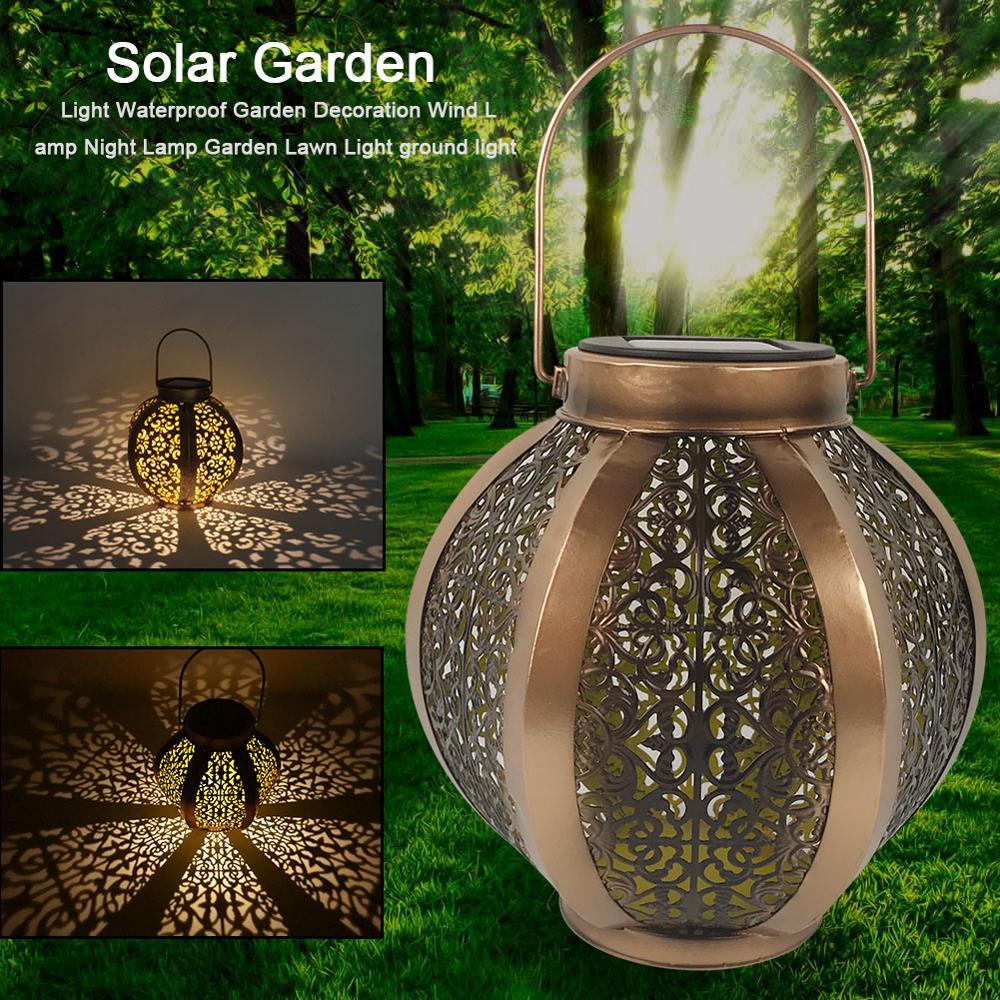 Waterproof Solar Garden Light Garden Decoration Wind Lamp Garden Lawn Light Ground Gloden Night Light