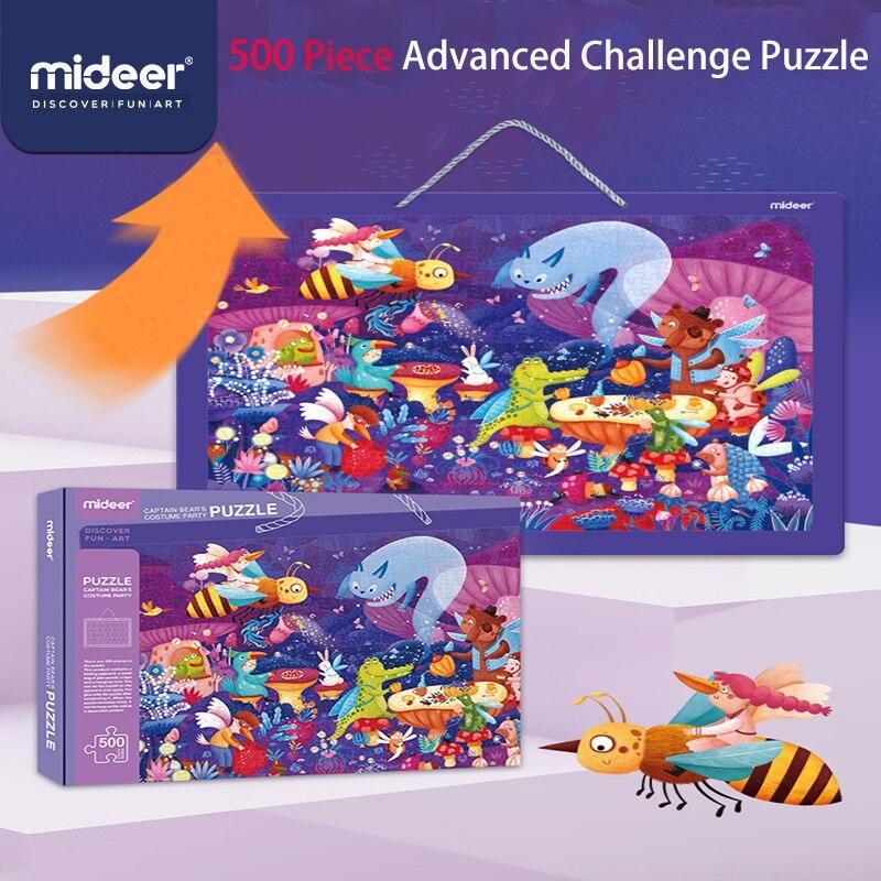 Mideer 500 pièce Puzzle pour enfants capitaine ours mascarade jouets amusants garçons et filles défi avancé Puzzle