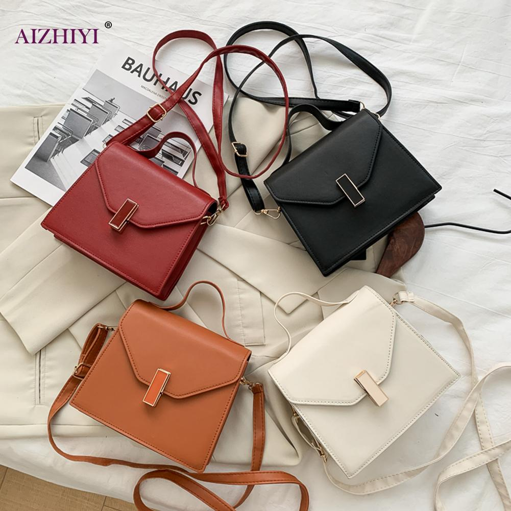 PU Leather Crossbody Bags Lady Shoulder Handbags Female SimpleSolid Color Summer Simple Totes for Women 2020 Trend