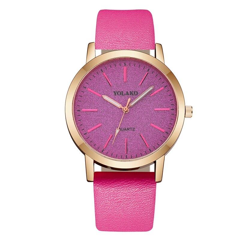 حركات عالية الجودة المرأة ساعة يد بحزام من الجلد بريق الهاتفي السيدات ساعة كوارتز ساعة ساعات الفتيات ساعة